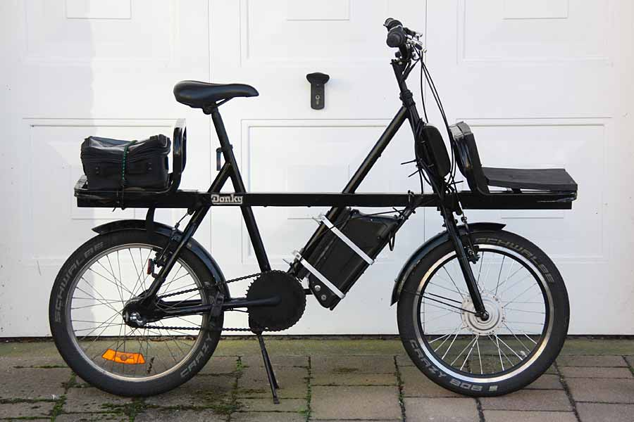 d8464de4779 My recent conversion of a 20-inch-wheel - Donky Bike - to convert it to a  compact Electric Cargo Bike. The 250 watt Electric front-wheel kit was  purchased ...
